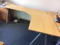 IKEA Gallant Curved corner desks - Adjustable height (3 available!)