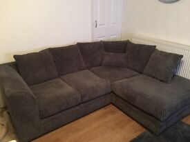 Lovely Grey 3 Seater and Corner Sofa