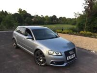A3 Black edition FULLY LOADED 170 BHP 2.0 tdi S line 5 door SATNAV