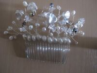 Bridal Hand Finished Hair Comb