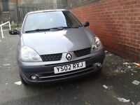 02 Renault clio 1.2 16v expression 5dr, service history, mot just out