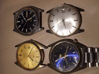 Four Seiko quartz and automatic watches forspares