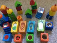 Mix of Haba and Brio Wooden Blocks