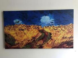 The wheat fields Vincent Van Gogh