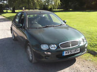 2001 ROVER 25 1.4, MOT SEPTEMBER 2017, SERVICE HISTORY, ONLY 73,000 MILES, ONLY £325