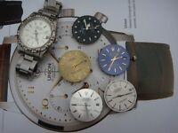 Rolex datejust automatic & spare dials movement vintage watch parts