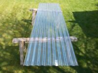 Polycarbonate corrugated roofing sheets