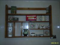 Lovely solid pine shelving display