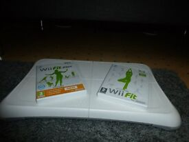 Wii fit board and Wii fit discs