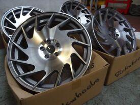 "19"" STUNNING Alloy Wheels Polished ... BARGAIN £300 ONLY (5x100) 9.5J & 8.5J"