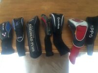 Mix of 7 golf head covers callaway and taylormade
