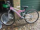 Ladies Pink Trax mountain bike