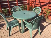 Grossfillex Garden Table and Chairs