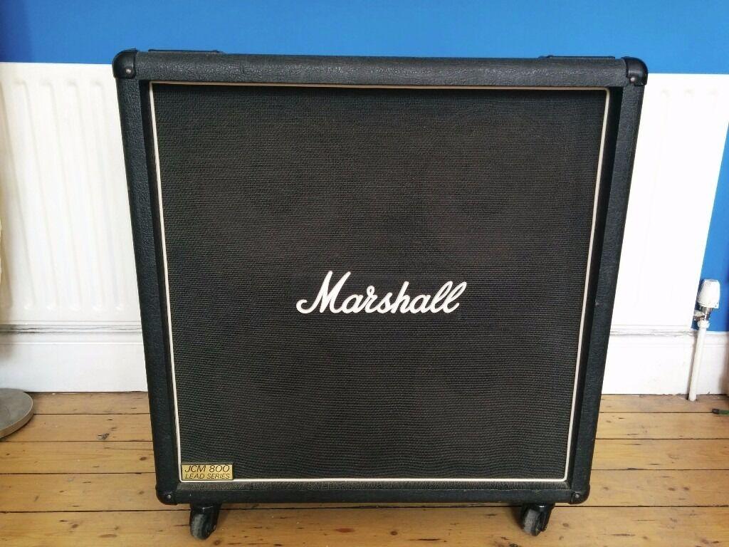 1980s Marshall JCM800 1960B 4x12 Speaker Cabinet