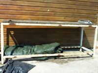 "Bench 7ft long x38"" High x 25"" deep, steel constrution, use for DIY or potting plants and big vice"