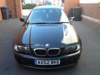 CLASSIC JET BLACK BMW 3 SERIES COUPE - (E46) 318CI SE - VGC and High Spec - FULL 12 MONTHS MOT