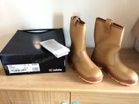 Jallatte J0266 Jalaska Men's Size 7 Tan Leather Rigger Boots With Steel Toe Caps - Brand New