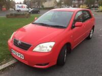TOYOTA COROLLA 1.6 MOT OCT 18 PX TO CLEAR