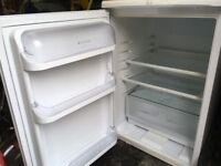 Hotpoint A class white under counter fridge £20, collect HG2