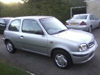 NISSAN MICRA 1-0 PROFILE 16 valve 3-DOOR 1999 V REG. 46,000 MILES ONLY, SEPTEMBER 19th 2017 MOT.