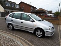NISSAN ALMERA TINO AUTOMATIC, ONLY 23,000 MILES, SERVICE HISTORY, MOT, LOW MILEAGE AUTO IDEAL EXPORT
