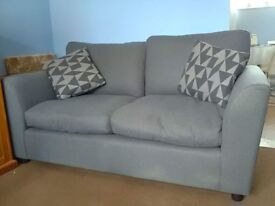 Argos Home Carter 2 Seater Fabric Sofa Grey
