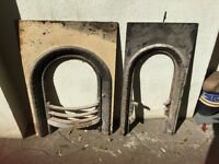 Cast iron fire place inserts