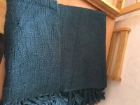 2 dark torqoise throw overs from m&s