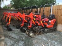Reliable mini and micro digger hire/rent in Essex, dumper, groundwork, digger & driver, grab lorry