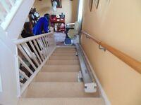 A straight run retractable stair lift