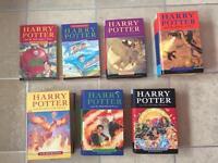 Set of Harry Potter books