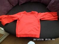 5 x boys school jumpers in red 9-10 years