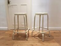 IKEA Råskog stackable industrial bar stools/chairs x2 LIKE NEW
