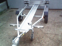 Motorcycle Trailer GALVANISED Single Bike One Motobike Motocross Ideal for motorhome AS NEW