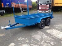 8x4 builders trailer with four wheel braking system laddwr rack(not ifor williams nugent hudson mcm)