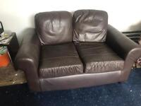 Brown small 2 seater