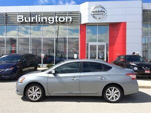 2014 Nissan Sentra 1.8 SL, NAVi, LEATHER, ROOF, ACCIDENT FREE !