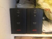 2 x APC Back-UPS BX NEW From Startup 2 months