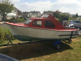 Fishing Leisure Motor Boat and Trailer