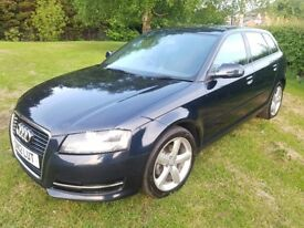 2012 AUDI A3 1.8 TFSI S-TRONIC 160 BHP MOT MAY 19 S/HISTORY 1 OWNER PADDLE-SHIFT DRIVES BRILLIANT