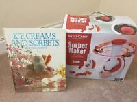 Silvercrest Sorbet Maker and Book Brand New Sorbet Maker £5