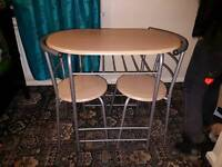 Space Saver Table & Chairs good condition