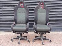 Honda Civic Type R Seats - Office Chairs / Gamesroom - Pair x 2