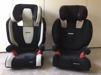2 x Recaro Child Car Seats 15-36kg Excellent Condition £65 each or £120 for two