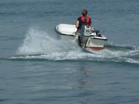 Orkney 315 Dory, 15hp Honda 4 stroke O/B, electric start, wheel steering & engine control