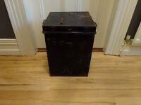 Firewood Firelog Box- Repurposed Vintage Ballot Box