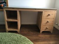 Reclaimed solid wood pine desk