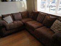 Corner sofa & cuddle chair DFS