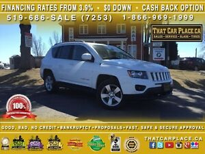 2015 Jeep Compass North-$67/Wk-Clean Carproof-4WD-AUX-Low Price