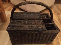 New Picnic Basket with Knives, Forks and Plates etc